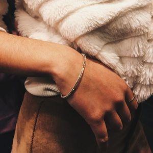 Gold jeweled bracelet